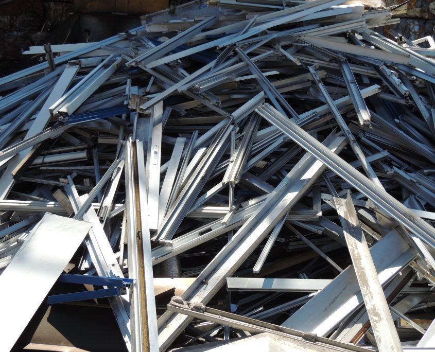 Aluminio perfil de obra
