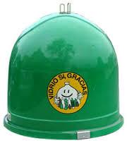 Contenedor verde reciclaje