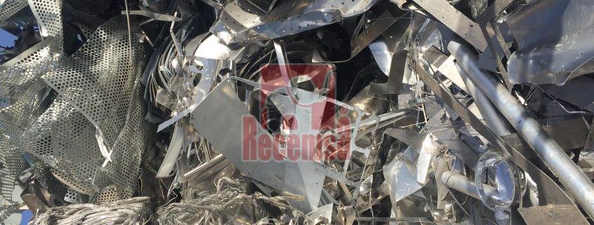 Chatarra usada en el reciclaje en la industria