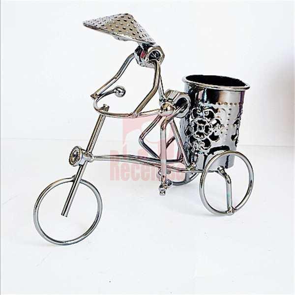 bici adorno metal reciclado