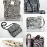 carteras con anillas de latas recicladas