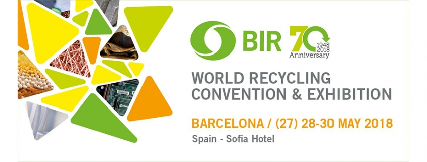 El Bureau of International Recycling (BIR) celebra su 70 aniversario en Barcelona