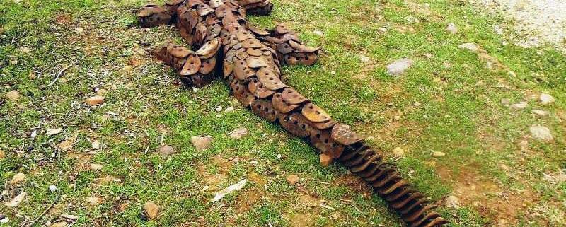 Arte y naturaleza: el parque español de esculturas con materiales reciclados